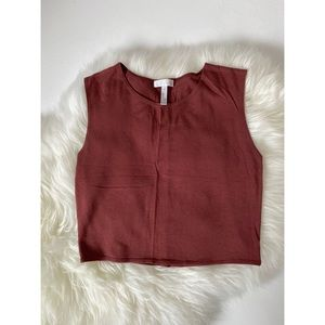 Soft Rust Colored Crop Top